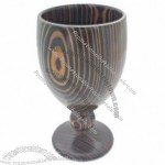 Bamboo Wine Cup with Decorative Pattern