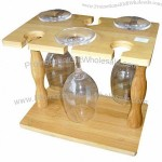 Bamboo Wine Glasses Holder