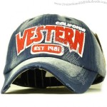 Baseball cap male female denim hat