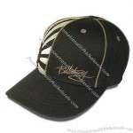Baseball Cap with Reflective Piping in Panel Seam of Crown