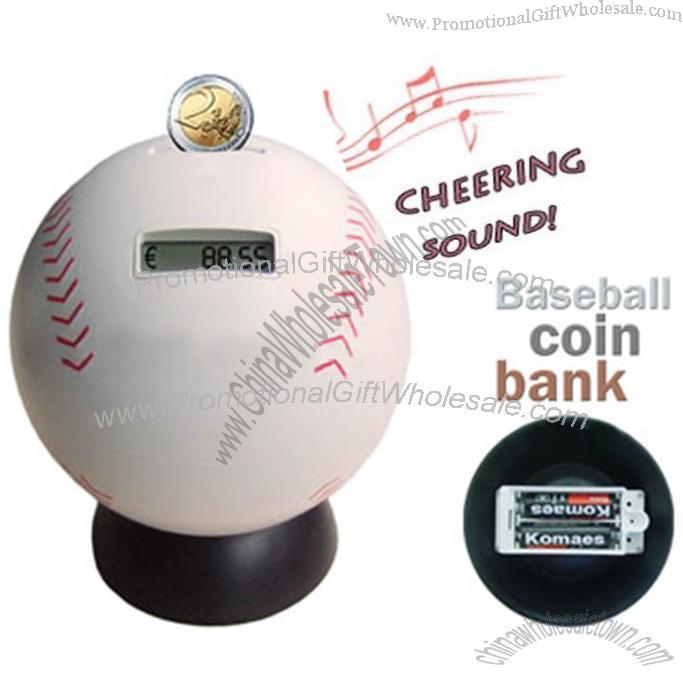 Baseball digital coin counting money bank factories in china 297543560 - Counting piggy bank ...