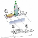 Bathroom Rack With Powerful Suction Cups