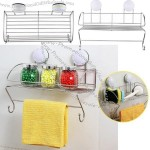 Bathroom Wall Suction Organizer Shelf