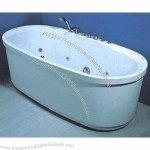 Bathtub and Shower Tray Combined with Shower Faucet, Mixer and Shower Head