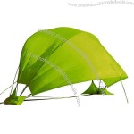 Beach tent is made from 190T polyester pongee, fashion & function combined.