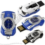 Benz Car Shape USB Flash Drive with Real Working Watch Clock 16G Memory Stick