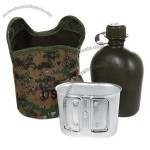 Best Quality Plastic DPM Pouch Water Bottle And Alloy Cup - Military Canteen