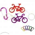 Bicycle Shape Bottle Opener With Key Chain And Carabiner