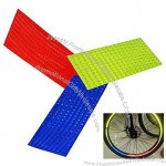 Bicycle Wheel Reflective Stickers Bike Wheel Safe Accessories (Red, Yellow, Blue)