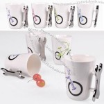 Bike Pattern Water Mug