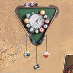 Billiards Ball Design Wall Clock