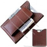Bison Leather Money Clip