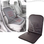 Black 12V Faux Leather Deluxe Heated Seat Cushion