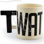 Black And White Ceramic Letters Mug