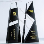 Black And White Mosaic Crystal Trophy