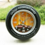 Black Car Tyre Alarm Clock