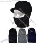 Black Face Mask Balaclava Visor Hat 1 hole Winter Ski