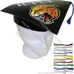 Black graduation hat made of high density poster board