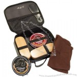 Black Leather Shoe Shine Kit