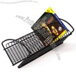 Black Mesh CD Rack