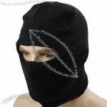 Black One Hole Windproof Knit Full Face Mask