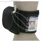 Black Pilots Ankle Wallet and Phone Holder