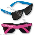 Black Rubber Sunglasses with Temples in Neon Colors