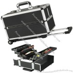 Black/Silver Trolley Makeup Cases