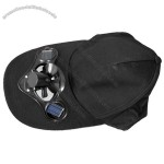 Black Solar Power Hat Cap with Cooling Fan
