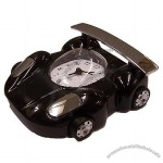 Black Sports Car Alarm Clock