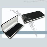 Black Velvet Pen Box W/ Silver Edges