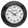 Black Wall Clock With Arabic Dial