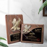 Black Walnut Wood Medal Eagle Trophy Plaque