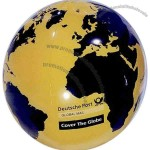 "Black-Yellow - Inflatable 20"" (deflated) globe ball"