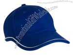 Blank, semi structured 100% brushed cotton twill, 6-panel fashion cap.