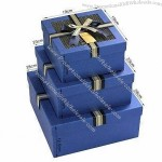 Blue Cardboard Gift Box with Finish
