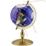 Blue Desktop Bow Shaped Lapis/ Gemstone Globe