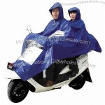 Blue Double Motorcycle Rain Poncho