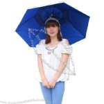 Blue Folding Hat Umbrella