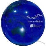 "Blue-Green - Inflatable 20"" (deflated) globe ball"