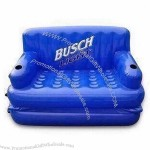 Blue Inflatable PVC Sofa