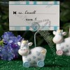Blue Toy Cow Design Place Card Holders
