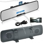 Bluetooth car kit rearview mirror monitor with FM MP3 Phonebook