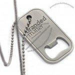 Bottle Opener Dog Tags - Antiqued and Recessed