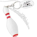 Bowling pin key chain unscrews to reveal pen