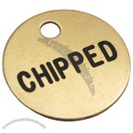 Brass Engraved Dog ID Tag, 25mm