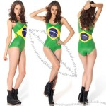 Brazilian Flag Black Milk Swimsuit