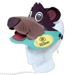 Brightly colored, soft EVA foam animal style sun visor