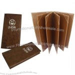 Brown 6 panels wine menu covers