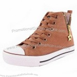 Brown Canvas Shoes with Canvas Shoes and Rubber Outsole